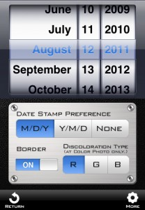 「TimeCamera for iPhone」設定画面