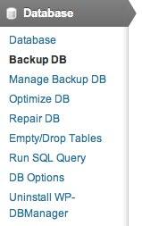 Backup DB