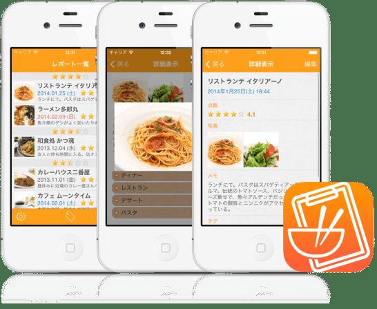iPhoneアプリ「食べメモ」(無料)