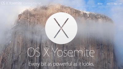 新しいMac OS XはYosemite(ヨセミテ)。新機能が盛り沢山。