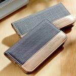 カードも入るしスタンドにもなる布と革で作られたiPhone6とiPhone6 plusケース EVOUNI K66シリーズ