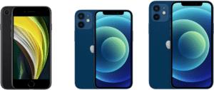 iPhoneの大きさを比較